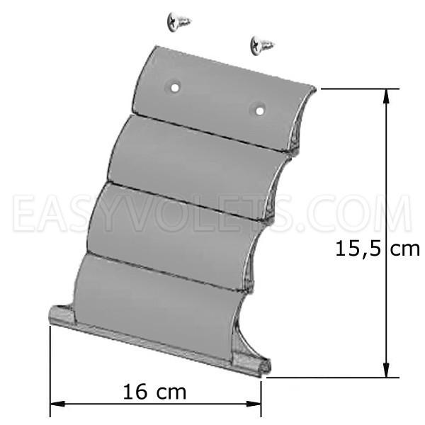 Dimensions DVA 4 pour axe 64 mm Profalux