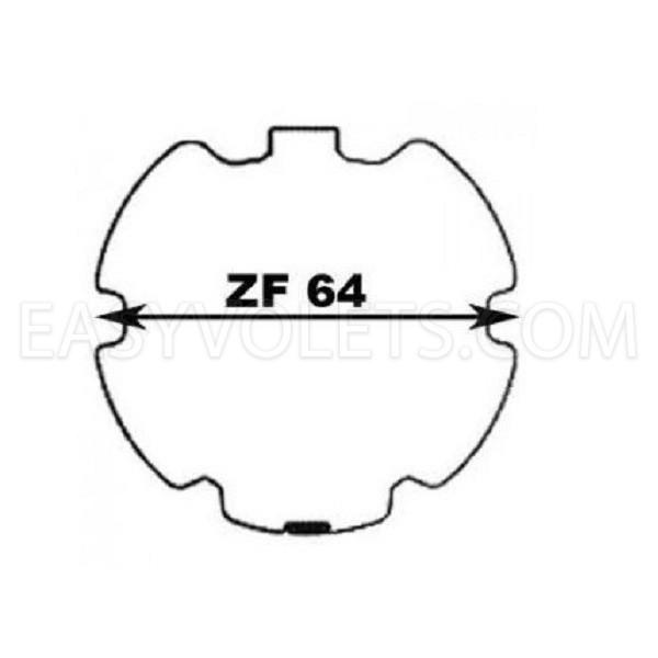 empreinte ZF64 mm Profalux